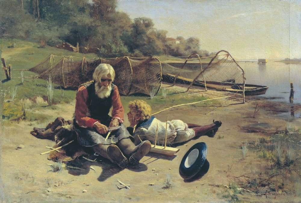 картины известных художников с рыбаками
