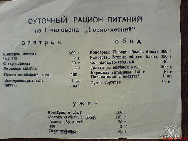 горно-летний паек, составч [Владимир Григорьевич Иванов]