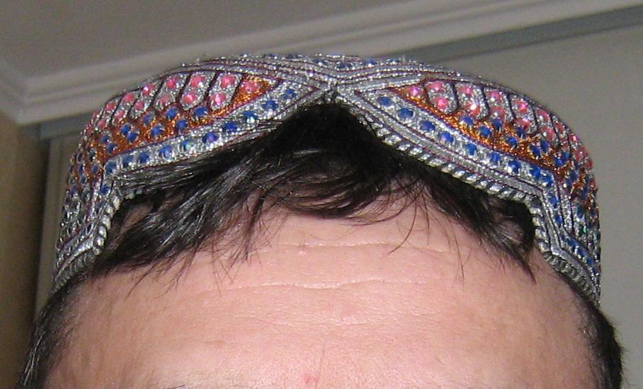 Пуштунская тюбетейка куло, кулё – здесь изображена кандаhарИ