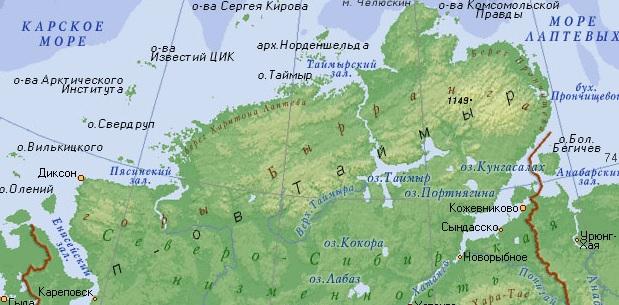 мыс челюскин фото на карте