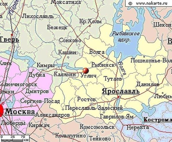 Карта-схема Ярославской